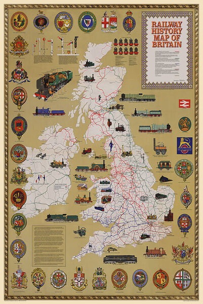 Pictorial History Railway Map of Britain